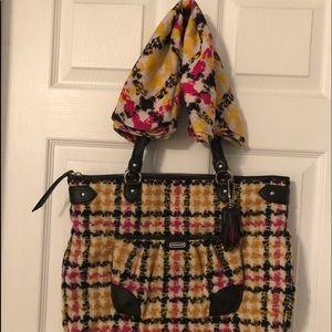 Coach bag & scarf